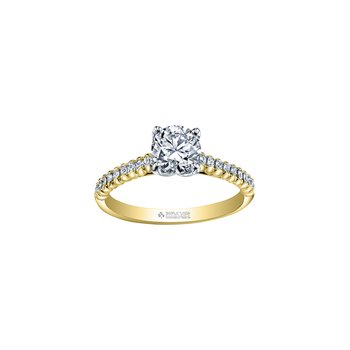 Eternal Flames Diamond Set Band Engagement Ring in Yellow Gold