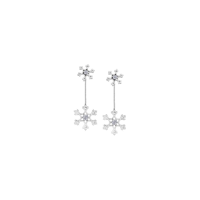 Maple Leaf Diamonds Winter Snowflake Earring Jackets