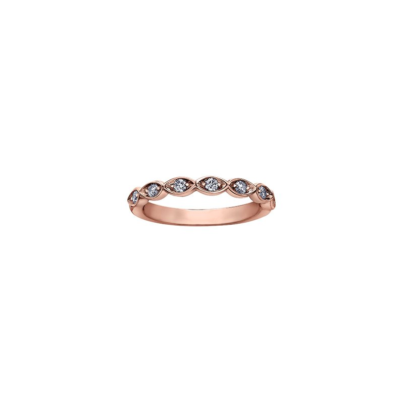 Maple Leaf Diamonds Spring Lily of the Valley Ring in Rose Gold