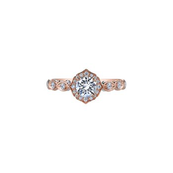 Spring Lily of the Valley Ring in Rose Gold