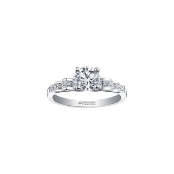 Tides of Love Waves Engagement Ring in White Gold