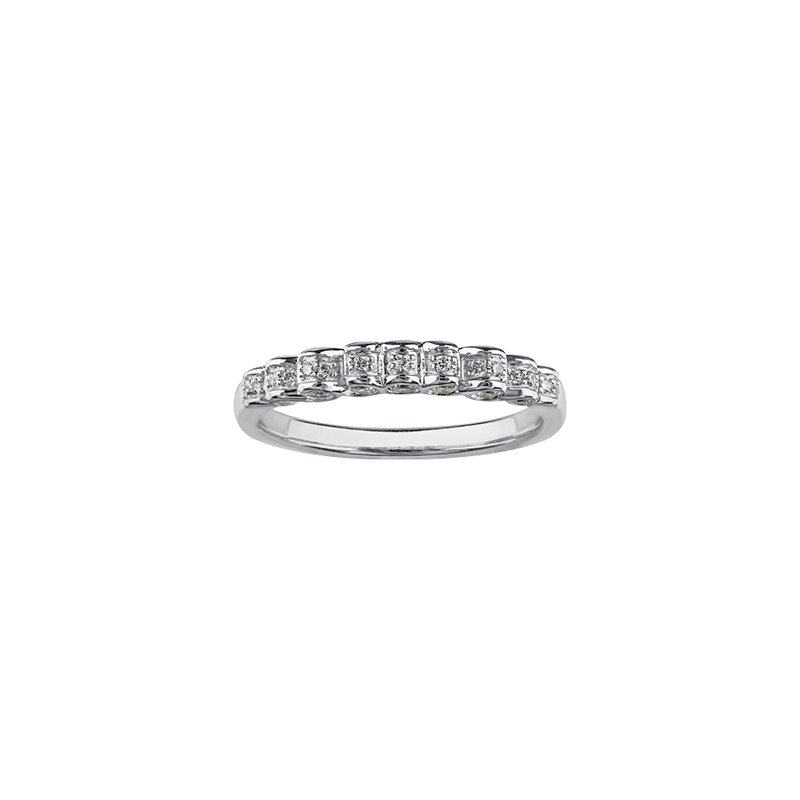 Maple Leaf Diamonds Tides of Love Waves Engagement Ring in White Gold