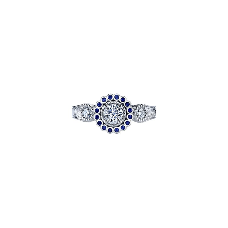Maple Leaf Diamonds Vintage Frost Engagement Ring