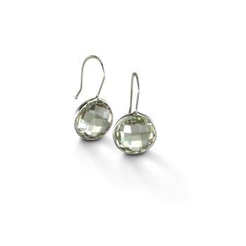 Green Quartz Drop Earrings