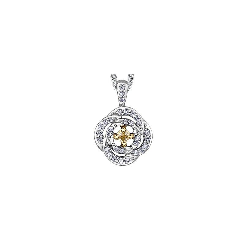 Maple Leaf Diamonds Natural Fancy Yellow Pendant
