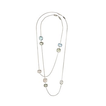 Multi-Stone Long Necklace