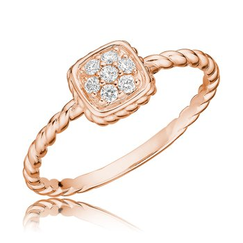 Diamond Treasures Square Ring