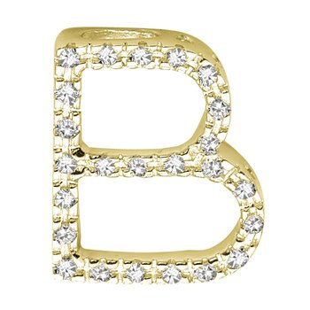 Block Letter Initials in Yellow Gold