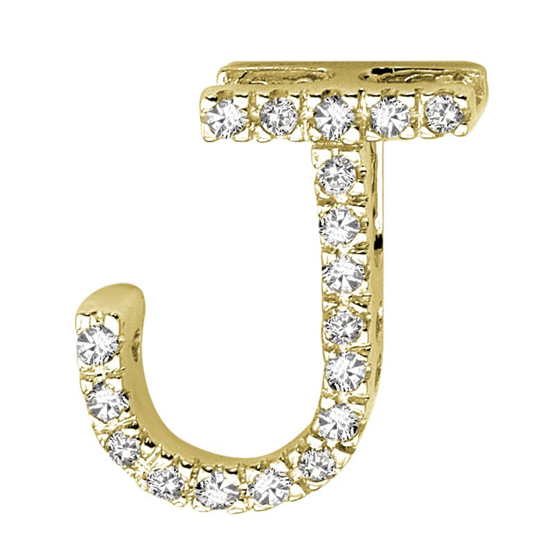 RnB Jewellery Block Letter Initials in Yellow Gold