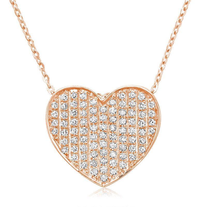 RnB Jewellery Pave Diamond Heart Pendant
