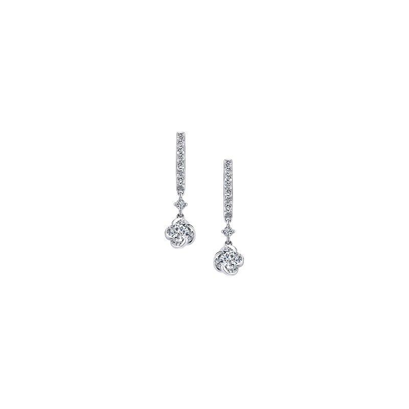 Maple Leaf Diamonds Wind's Embrace Drop Earrings