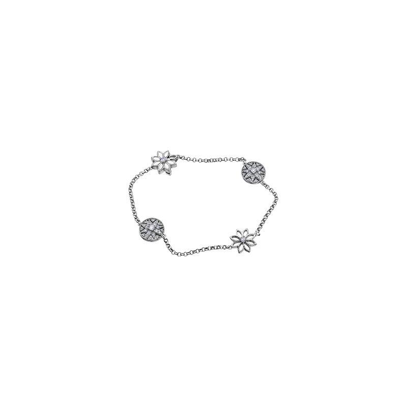 Maple Leaf Diamonds Spring Lily Diamond Bracelet