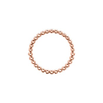 Diamond Beaded Ring in Rose Gold