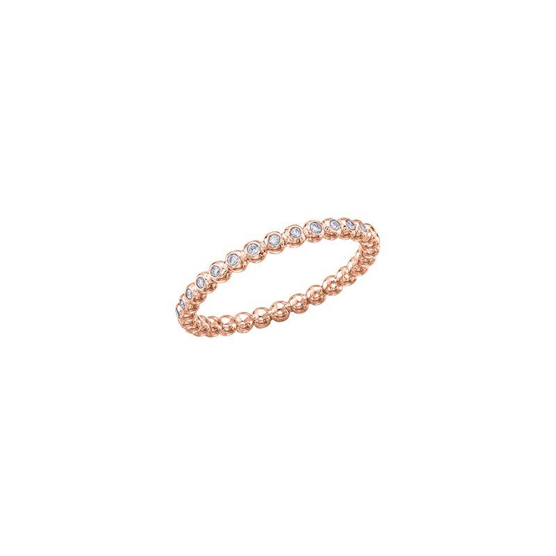 Maple Leaf Diamonds Diamond Beaded Ring in Rose Gold
