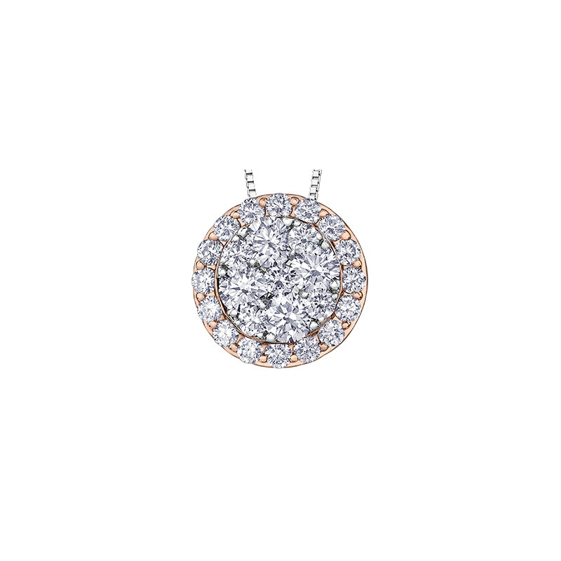 Maple Leaf Diamonds Diamond Cluster Pendant