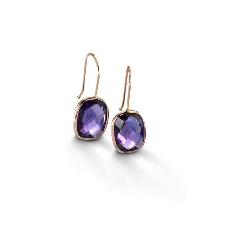B Couture Amethyst Drop Earrings