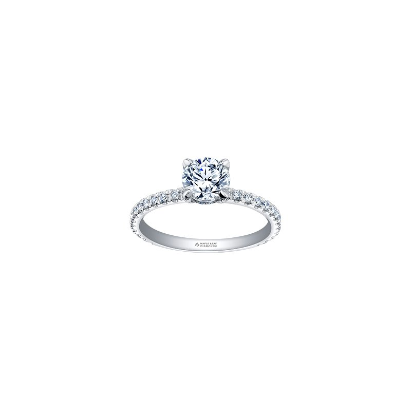 Maple Leaf Diamonds Circle of Love Diamond Set Engagement Ring in White Gold