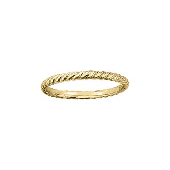 Twist Ring in Yellow Gold