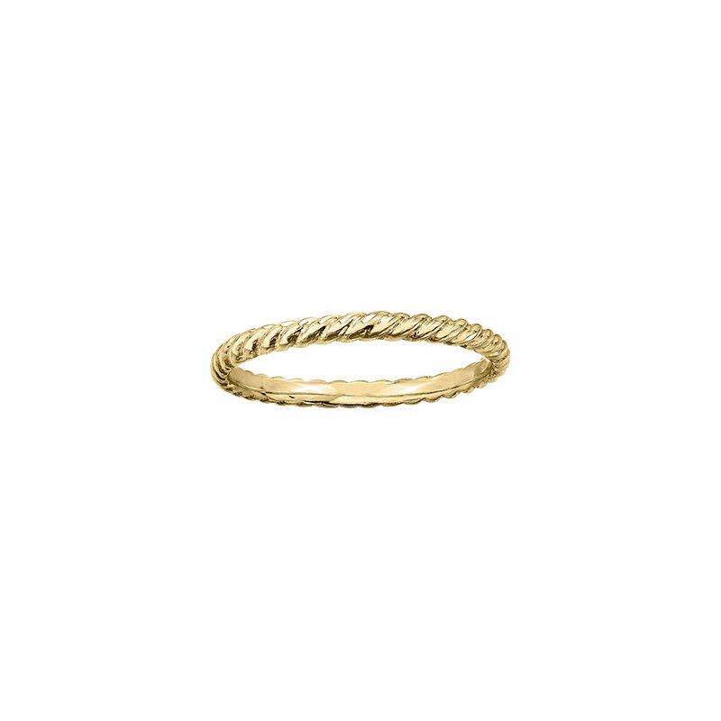Maple Leaf Diamonds Twist Ring in Yellow Gold