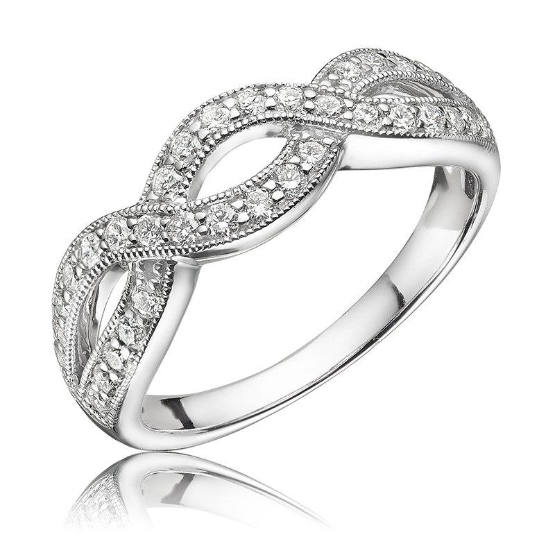 RnB Jewellery Diamond Infinity Ring with Milgrain
