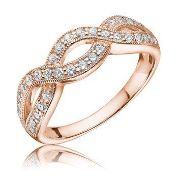 Diamond Infinity Ring with Milgrain