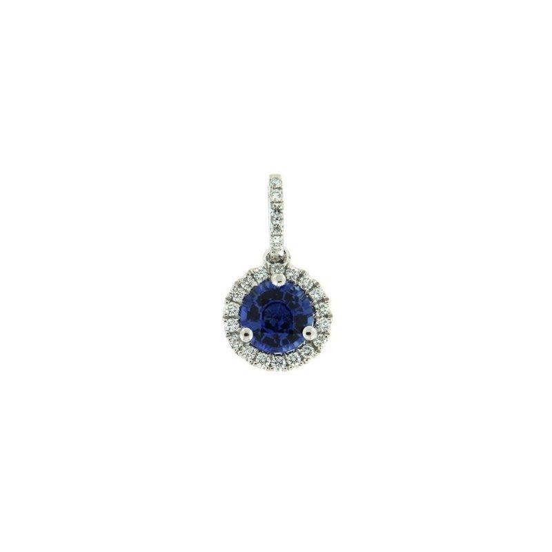 Davidson's Signature Sapphire Halo Pendant