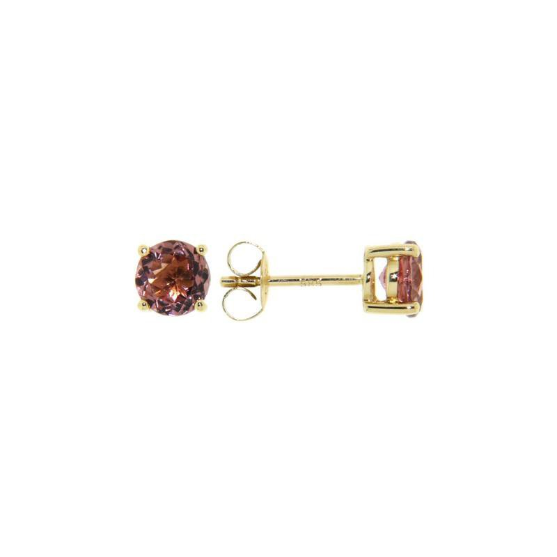Davidson's Signature 4 Prong Pink Tourmaline Stud Earrings