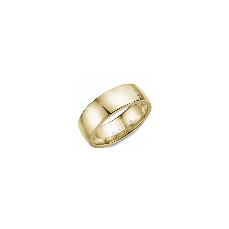 CrownRing Wide Polished Band with High Edge