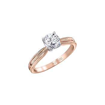 Eternal Flames Split Band Solitaire Ring in Rose Gold