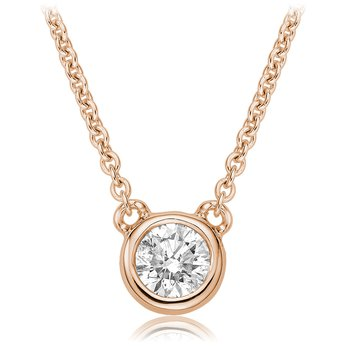 Diamond Bezel Solitaire Necklace