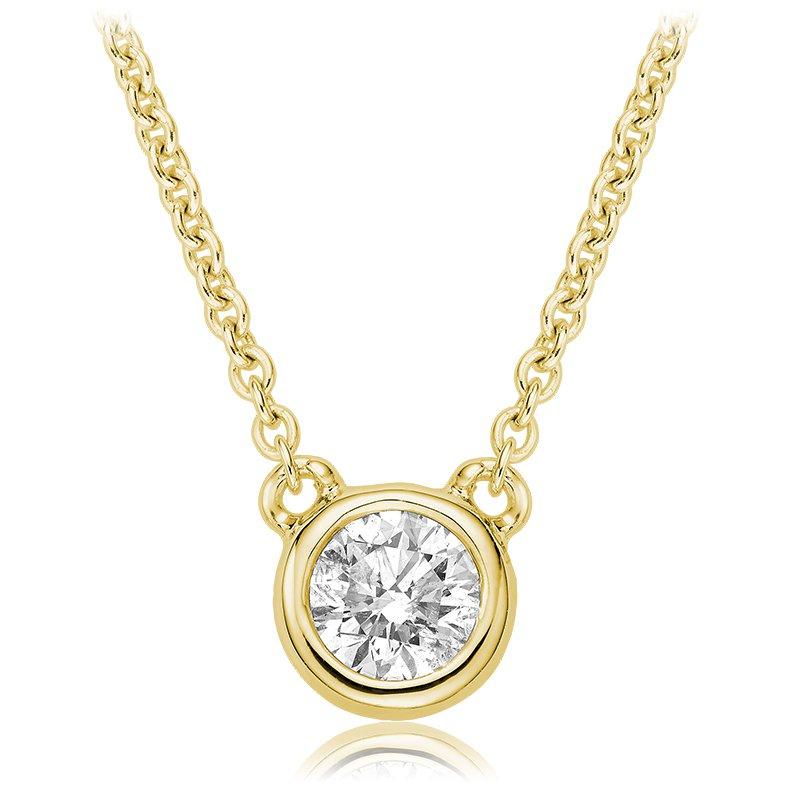 RnB Jewellery Diamond Bezel Solitaire Necklace