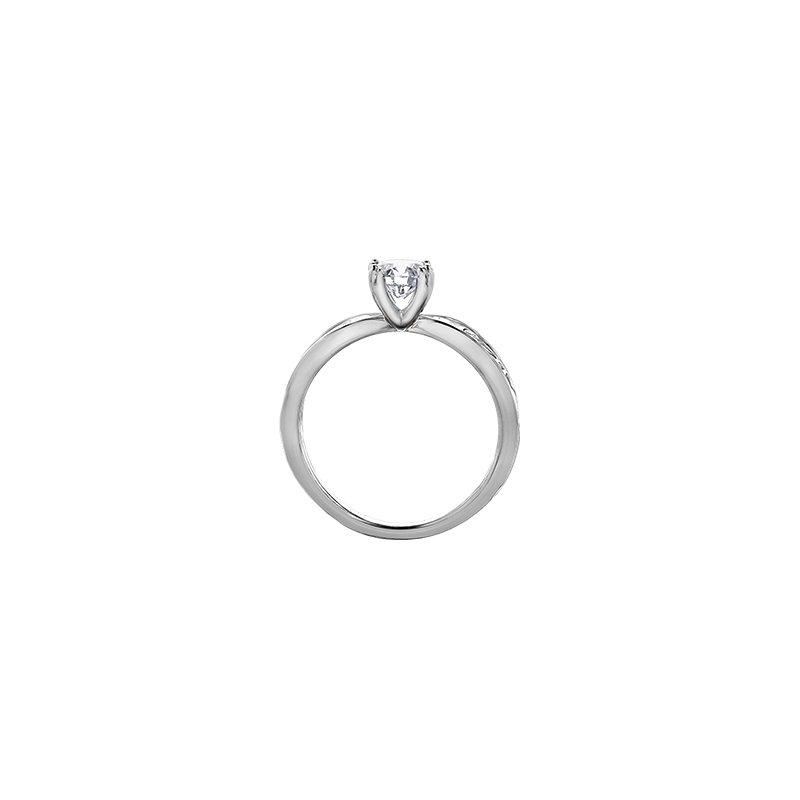 Maple Leaf Diamonds Summer Garden Infinity Ring in White Gold