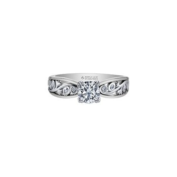 Summer Garden Infinity Ring in White Gold