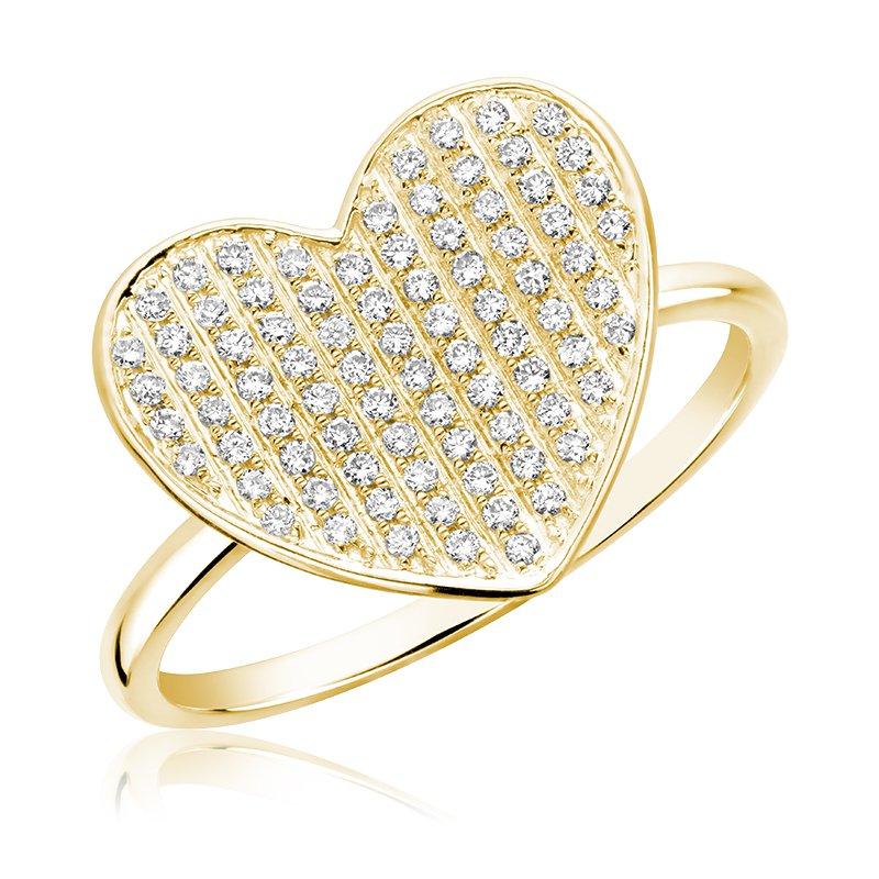 RnB Jewellery Pave Diamond Heart Ring