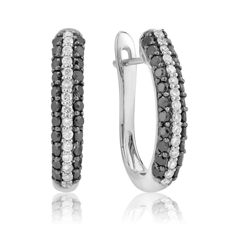 RnB Jewellery Black and White Diamond Earrings