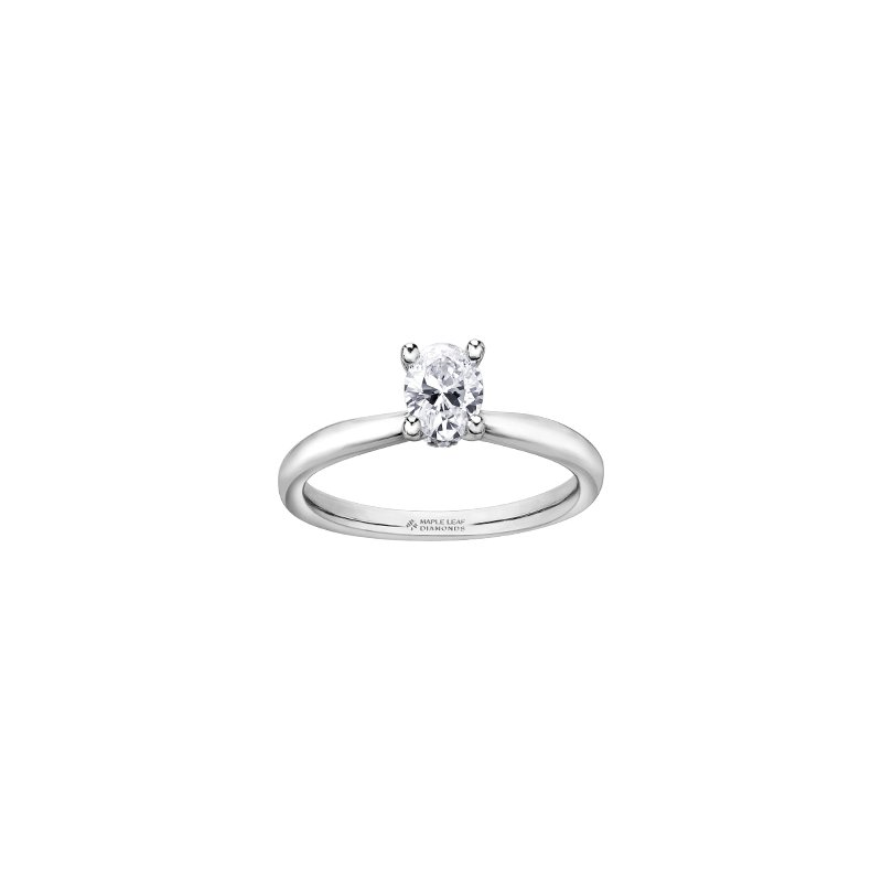Maple Leaf Diamonds Circle of Love Oval Solitaire Engagement Ring