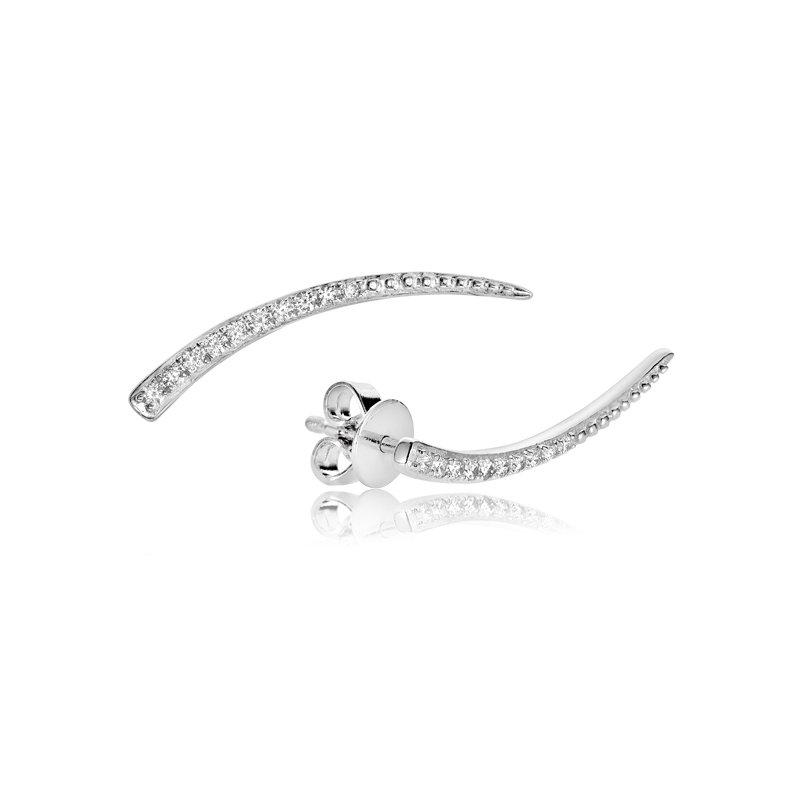 RnB Jewellery Diamond Curve Climber Earrings