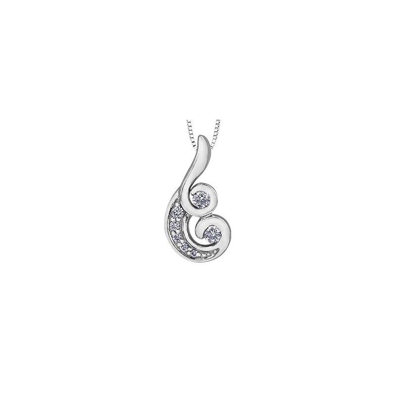 Maple Leaf Diamonds Tides of Love Mini Pendant