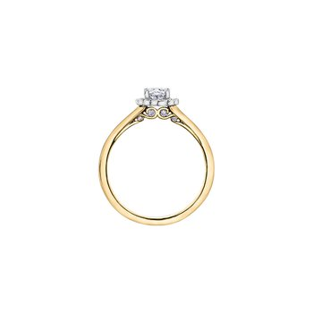 Tides of Love Oval Halo Engagement Ring