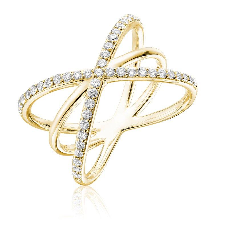 RnB Jewellery Diamond Triple Crossed Ring