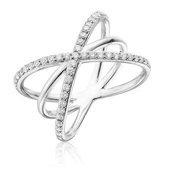 Diamond Triple Crossed Ring
