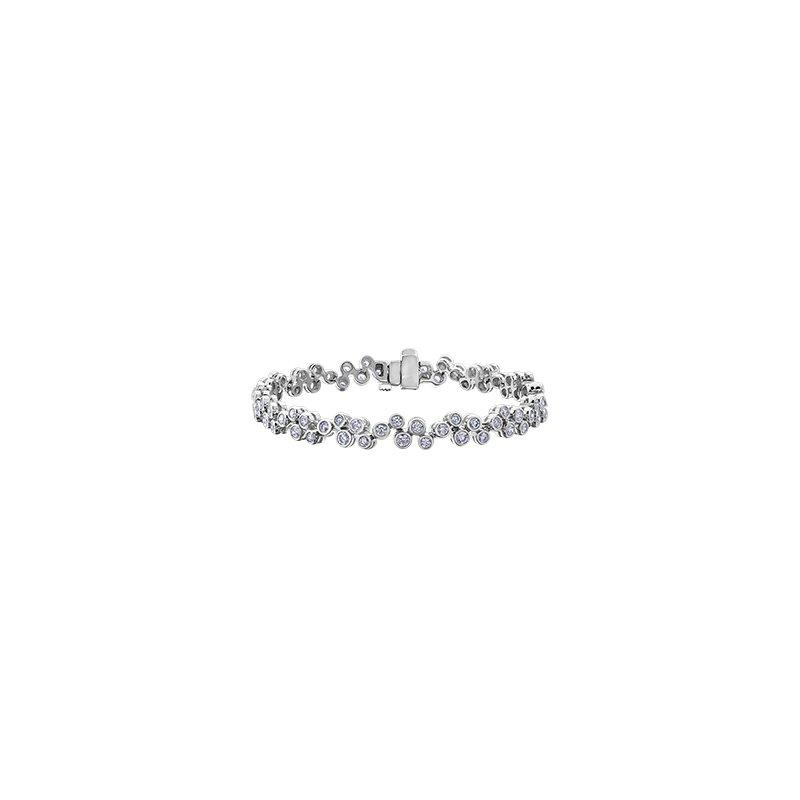 Maple Leaf Diamonds Bezel Set Diamond Bracelet