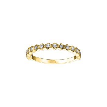 Diamond Honeycomb Stacking Ring
