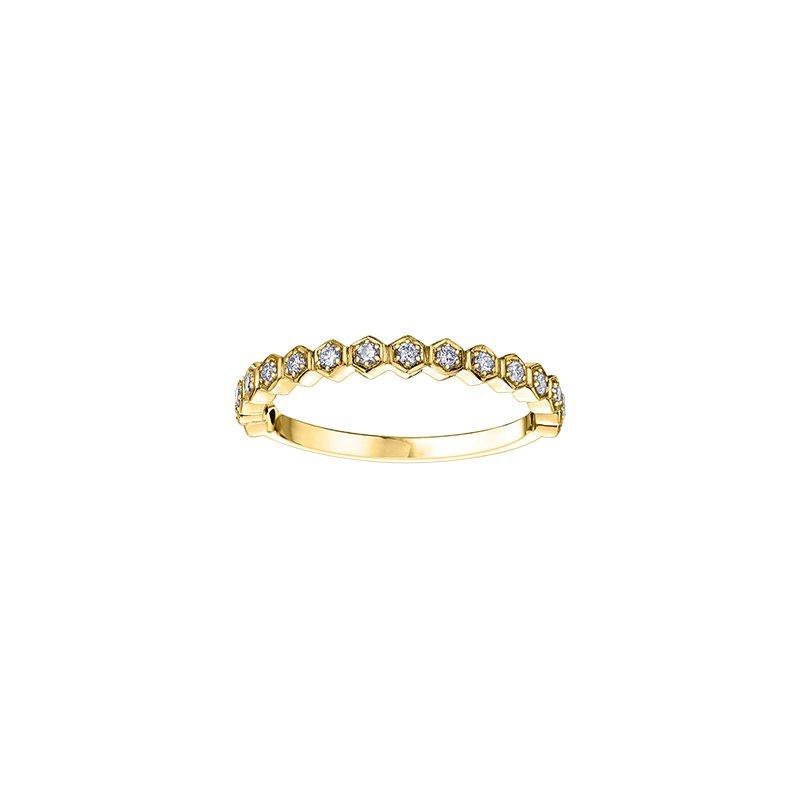 Maple Leaf Diamonds Diamond Honeycomb Stacking Ring