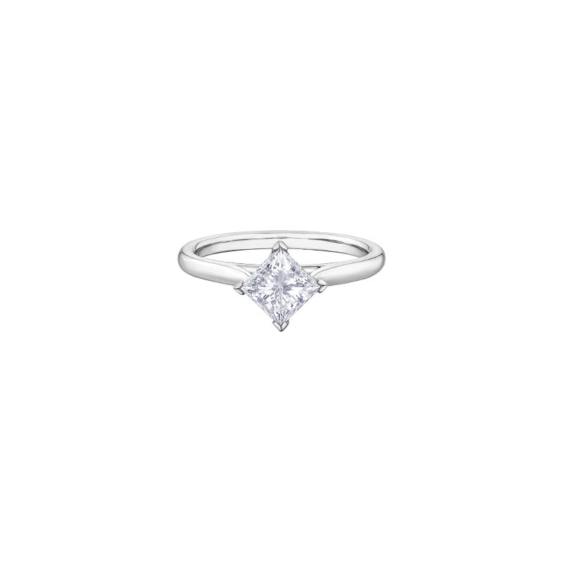 Maple Leaf Diamonds Princess Cut Diamond Solitaire Engagement Ring