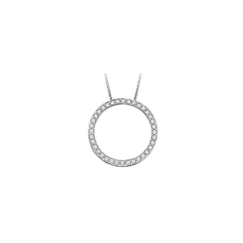 Maple Leaf Diamonds Diamond Circle Pendant