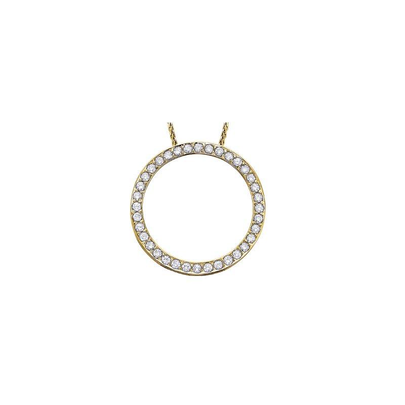 Maple Leaf Diamonds Diamond Circle Pendant