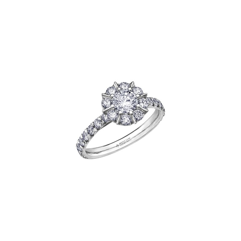 Maple Leaf Diamonds 150 Cut Collection Diamond Halo Engagement Ring