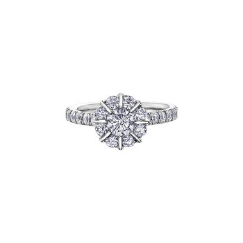 150 Cut Collection Diamond Halo Engagement Ring