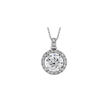 Diamond Halo Pendant